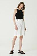 Network Kadın Slim Fit Siyah Kolsuz Bluz 1078516