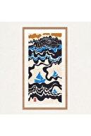 Nilol Print Morning Swim Dijital Illüstrasyon, Fine Art Baskı, 25x52,