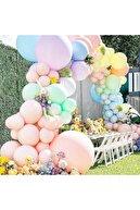 KullanAtParty Makaron Balon Jumbo Boy 18 Inc 45 Cm Beyaz Renk-1 Adet