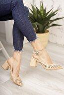 Moda Değirmeni Nut Cilt Kadın Topuklu Ayakkabı Md1042-119-0005