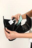 Top All BAG Siyah Kadın Zincirli Cep Telefon Omuz Çanta