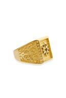 Hugdesign 925 Ayar Gümüş Altın Kaplama Yüzük