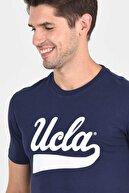 Ucla Margan Lacivert Bisiklet Yaka Erkek T-shirt
