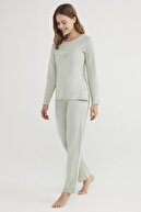 Penti Mint Yeşili Base Unfollow Pijama Takımı