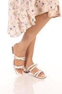 SOBY SHOES Kadın Günlük Şık Ve Rahat Şeffaf Topuklu Terlik Sandalet Soby11050027