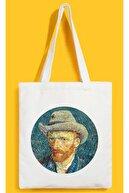 DamlaPromosyon Van Gogh Basklı Ham Bez Çanta