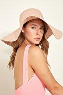C City Kadın Hasır Plaj Şapkası Y1730-23 Soft Pembe
