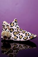 MorHanem Kadın Leopar Panduf Ev Ayakkabısı