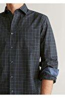 Mango Erkek Yeşil Regular Kesim Kareli Pamuklu Gömlek 67052877