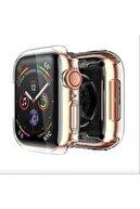 Gate Apple Watch 40 Mm Uyumlu Şeffaf Silikon Kılıf 40mm Watch Tam Koruma Koruyucu