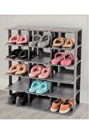 DNZTREND Çok Katmanlı Ayakkabı Rafı, Düzenleyici, Organizeri, Portatif Ayakkabı Standı 5 Katlı