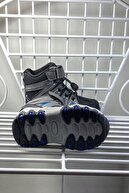Minican Kışlık Termo Taban Cırtlı Lastik Bağcıklı Çocuk Bot Ayakkabı