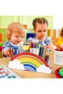 Akıllı Karınca Ahşap Gökkuşağı Çocuklar İçin Masaüstü Kalemlik Kalem Kutusu Organizer