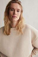 Oysho Kadın Taş Rengi Pamuklu Sweatshirt