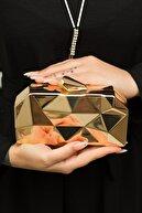 weem bag Kadın Altın Metal Abiye Çanta