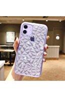 Go Aksesuar Apple Iphone 11 (6.1) Lila Piramit Desen Darbe Önleyici Silikon Kılıf Aa Kalite