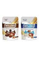 DATESnCHOCO Dates N Choco Sütlü Çikolata Kaplı Hurma 90gr + Hindistan Cevizi Ve Beyaz Çikolata Kaplı Hurma 90gr