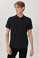 Lee Erkek Siyah Regular Fit Polo Yaka T-Shirt
