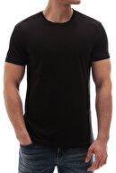 Madmext Erkek Siyah Baskılı T-Shirt - 3006