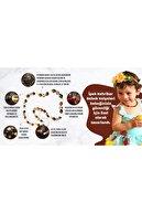 İpek Kehribar Unisex Sertifikalı Baltık Kehribar Bebek Kolyesi Diş Konyak Barok Kehribar Kolye