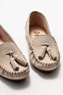 Elle Kadın Bej Deri Loafer