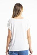 modavingo Kadın Ekru Yaka Dantel Detaylı Bluz