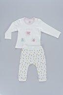 Bibaby Çiçek Desenli Kelebek Detaylı Kız Bebek 2li Takım 59472