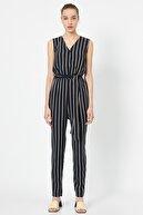Koton Kadın Siyah Çizgili Elbise 9YAK43639EW