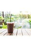 İhtiyaç Limanı Plastik Bardak 350 Cc Milkshake Atom Parti Bardağı Kapak 500 Adet