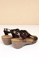 Pierre Cardin PC-1392 Kahve Kadın Sandalet