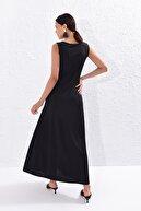 Cool & Sexy Kadın Siyah Uzun Tunik Elbise Yİ1823