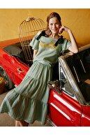 Koton Kadın Mint Yeşili İşlemeli  Bluz