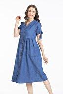 Pitti Kadın Lacivert Yeni Elbise 51046