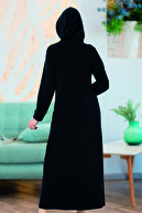 ESRATEKS Kadın Lacivert Uzun Havlu Elbise