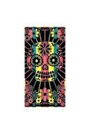 Özdilek Siyah Kurukafa Desenli Plaj Havlusu-Dpink Skull 70x150