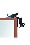 GİZEM SHOP Dekoratif Kedi Tasarımlı Kapı ve Ayna Köşe Süsü