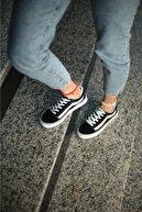 Espardile Kadın Siyah Beyaz Günlük Spor Ayakkabı