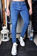 Lose Jeans Erkek Açık Mavi Skinny Fit Bilekboy Pantolon