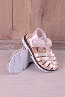 Kidya Kız Çocuk Sedef Rengi Ortopedik Sandalet