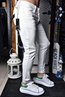 Lose Jeans Erkek Beyaz Skinny Fit Bilek Boy Pantolon