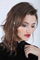 New Obsessions Kadın Altın Celeste Yapraklı Saç Zinciri