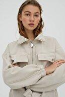 Pull & Bear Kadın Kısa Kadife Ceket