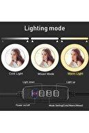 Syrox Youtuber Led Işıklı Tripod Selfie Makyaj Işığı Sürekli Ring Light 10 Inç Halka