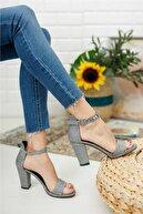 KILINÇ Kadın Gümüş Zenne Ayakkabı Tek Bant