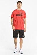 Puma ESS HEATHER TEE Kırmızı Erkek T-Shirt 101085403
