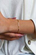 sviesasilver Kadın Tilki Kuyruğu Model Altın Kaplama Gümüş Italyan Bileklik