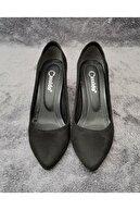 CassidoShoes Özel Tasarım Siyah Süet Deri Topuklu Ayakkabı Ve Çanta Takım