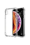 Fibaks Iphone X/xs Uyumlu Kılıf Antishock Köşe Korumalı Darbe Emici Şeffaf Sert Silikon