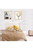Renkli Duvarlar Nw01 Kendinden Yapışkanlı 70x77 Cm 10 Adet Sünger Tuğla Duvar Kağıdı Paneli