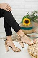 KILINÇ Kadın Metalik Zenne Ayakkabı Tek Bant